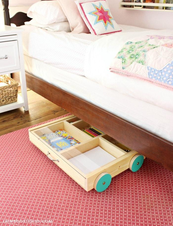 art trundle cart under bed