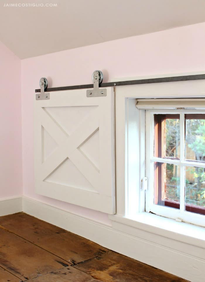 barn door window coverings