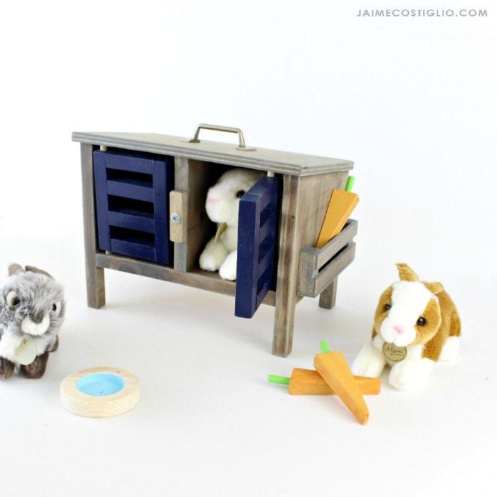 diy play bunny hutch