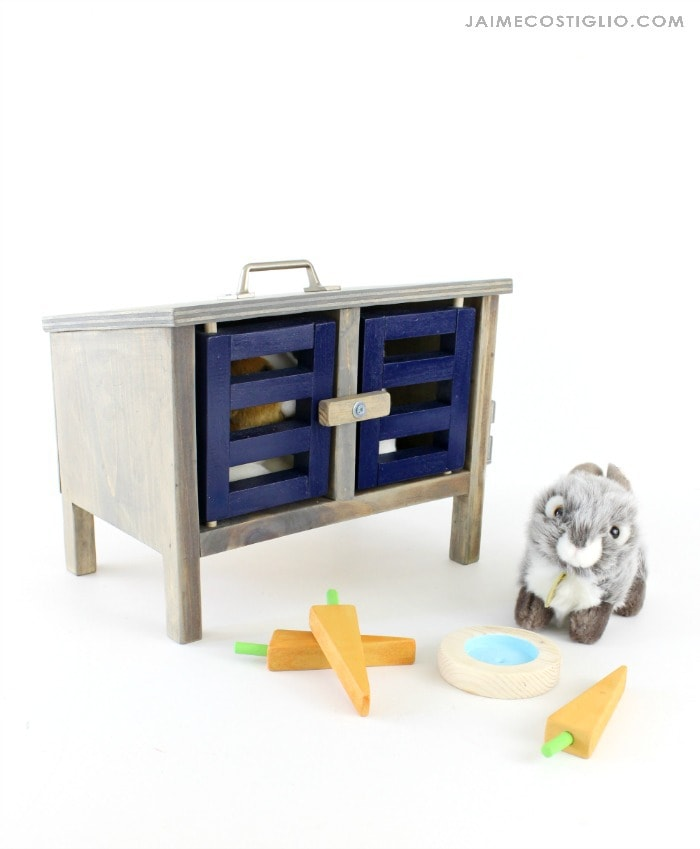 diy bunny hutch doors closed