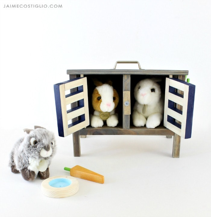 diy bunny hutch doors open
