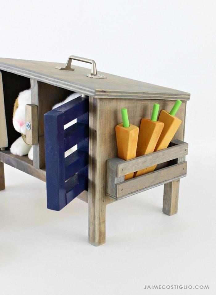 bunny hutch shelf detail