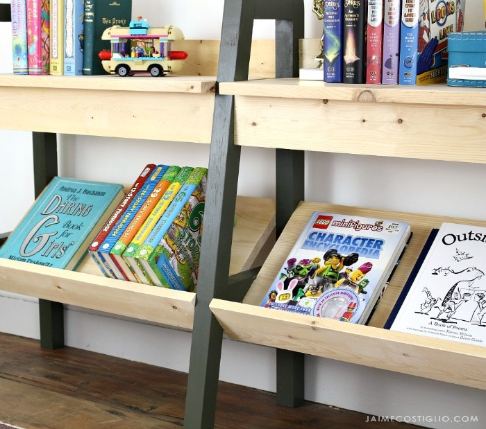midcentury modern bookshelf bottom shelf storage