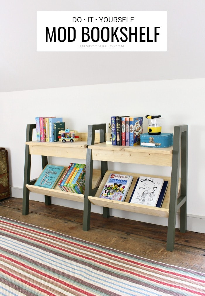 midcentury modern bookshelf