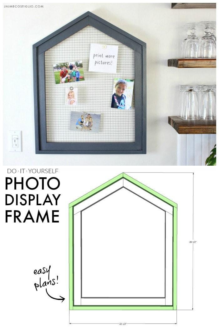 photo display frame pinnable