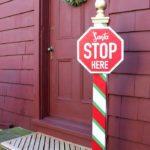 DIY Santa Stop Here Post Free Plans