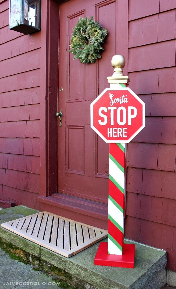 diy santa stop here post