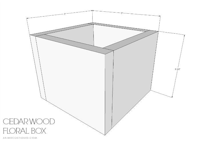 scrap cedar wood floral box free plans