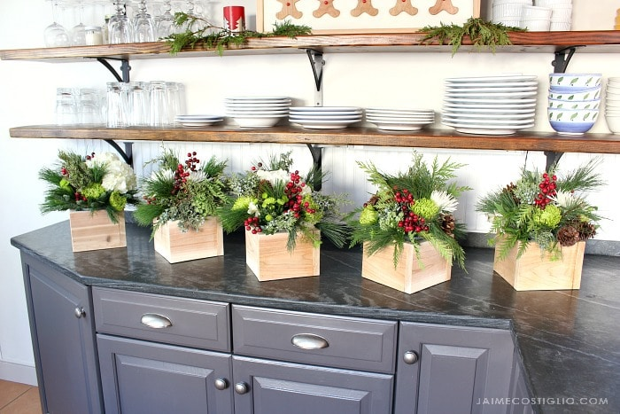diy scrap cedar wood floral boxes