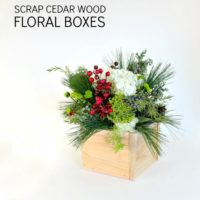 scrap cedar wood floral boxes feature