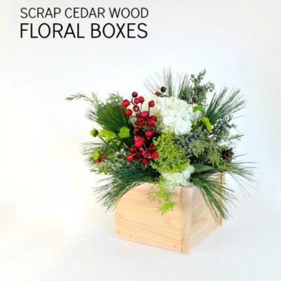 DIY Scrap Cedar Wood Floral Boxes