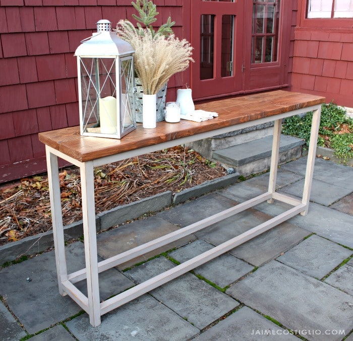 sofa table free plans