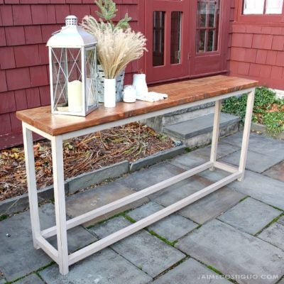 Simple Sofa Table Free Plans