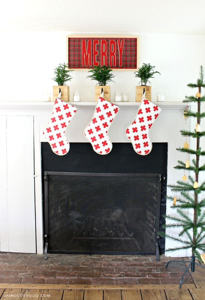 stocking hangers on mantel