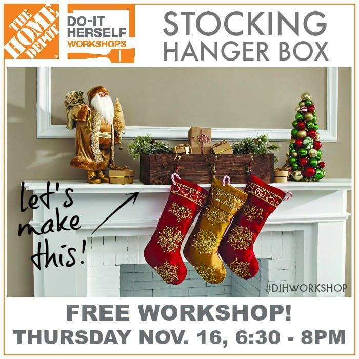 stocking hanger box DIH workshop at The Home Depot