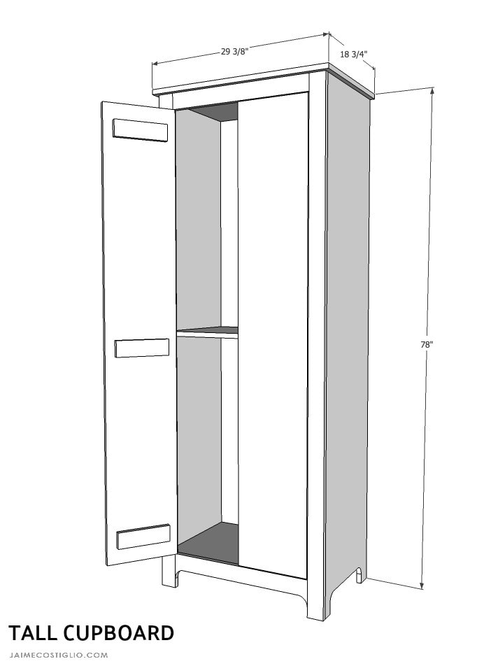 tall cupboard dimensions