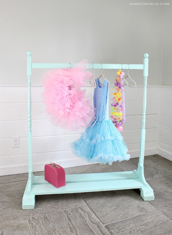 diy kids wardrobe rack