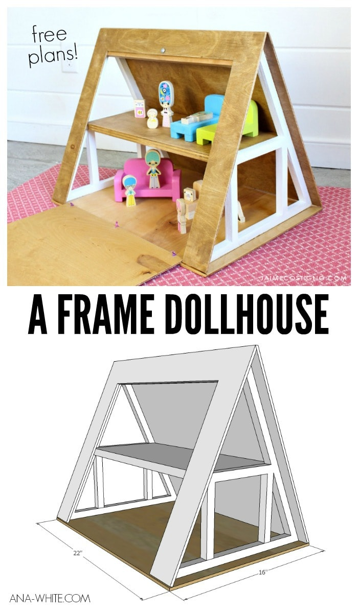 a frame dollhouse collage