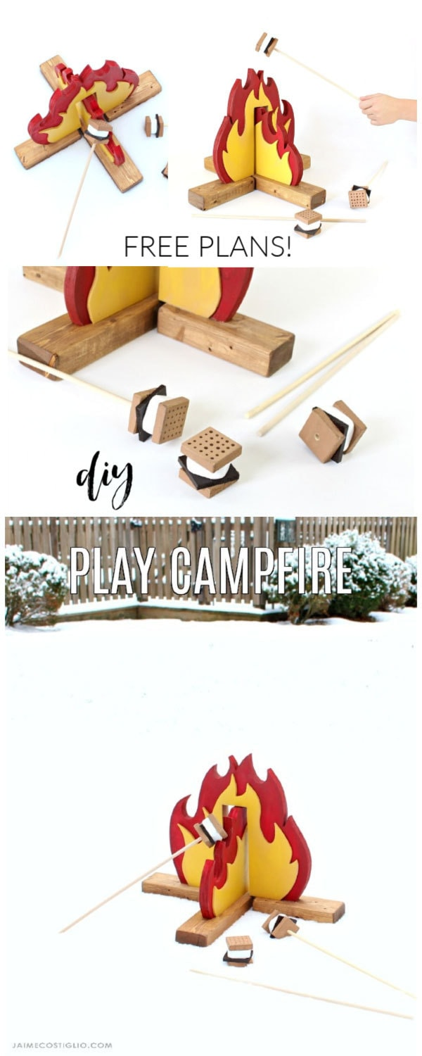 diy play campfire free plans