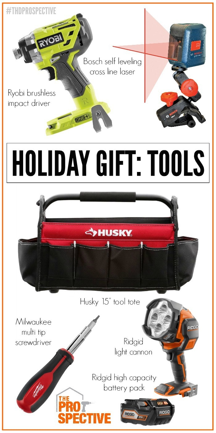 holiday gift tools collage