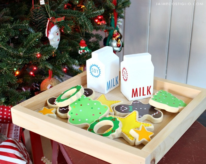 kids play cookies and milk set