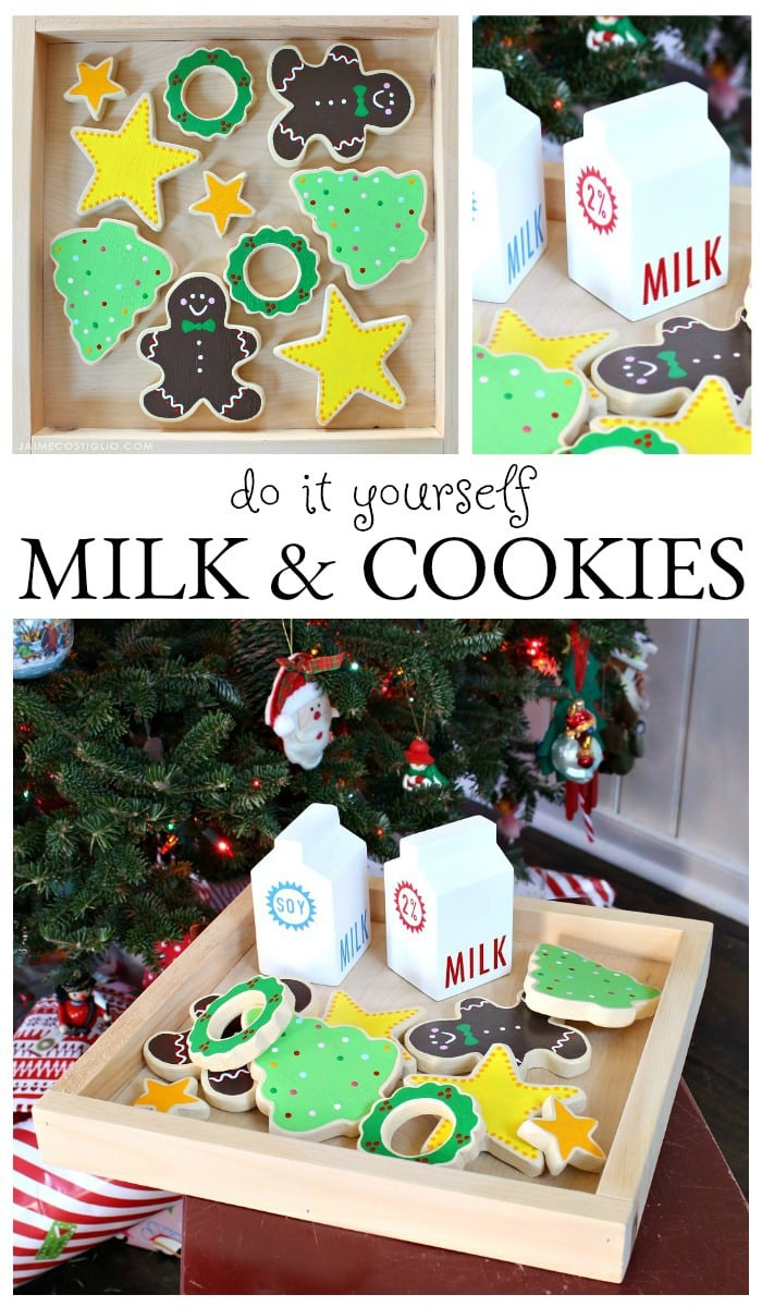 DIY milk & cookies play set