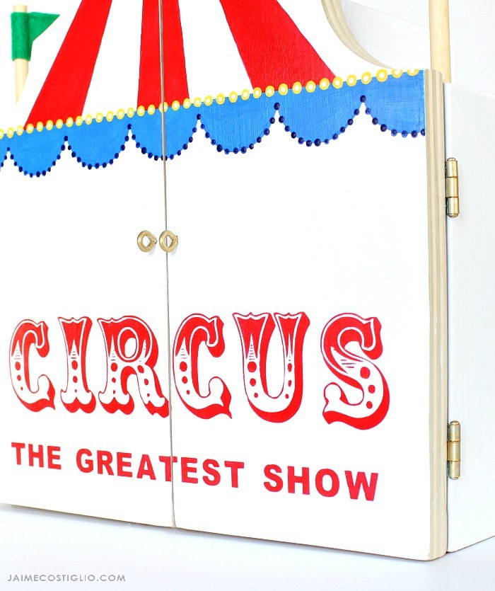 diy play circus paint detail