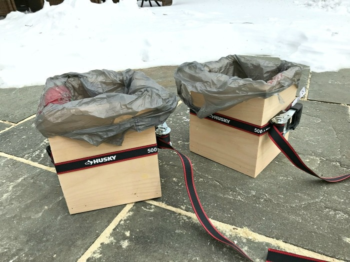 husky tie downs around wood box