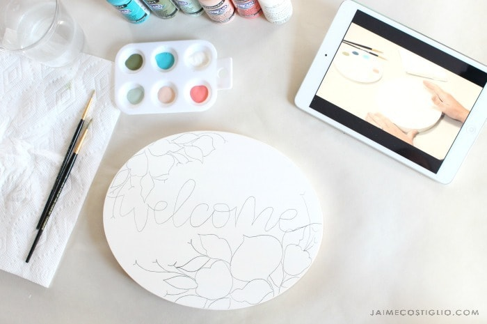make with paint welcome plaque