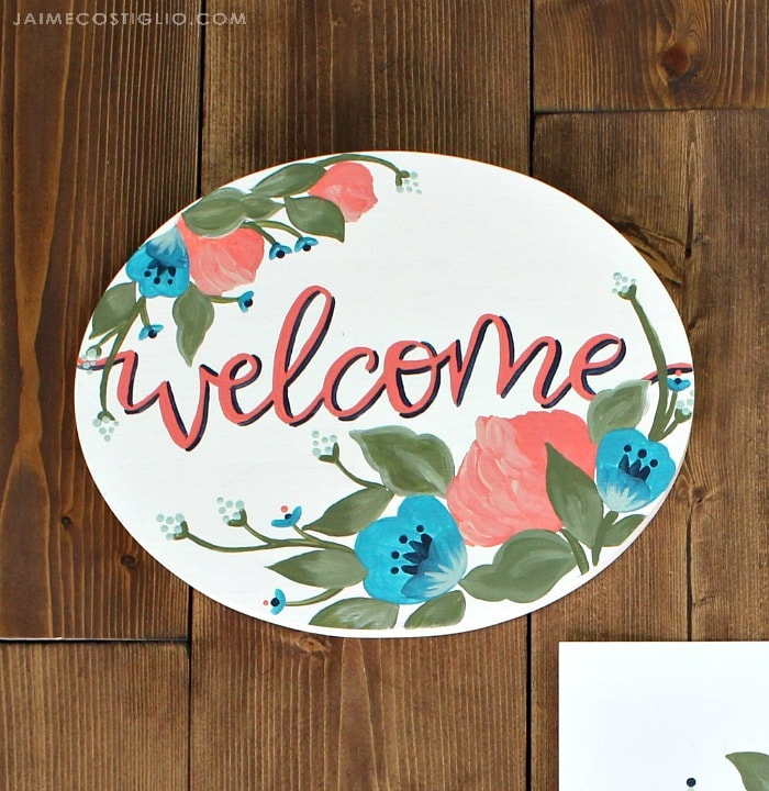 make with paint welcome sign
