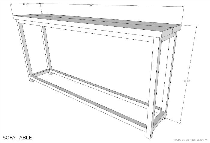 sofa table dimensions