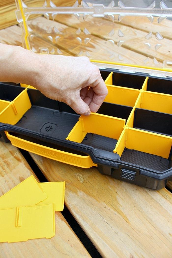 dewalt organizer movable dividers