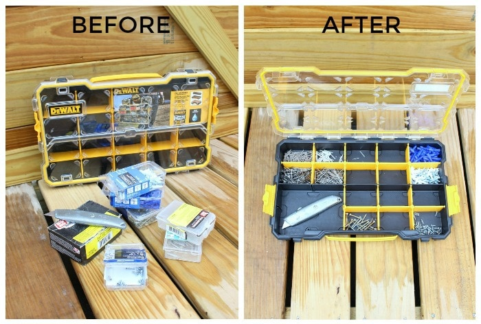 dewalt organizer before after