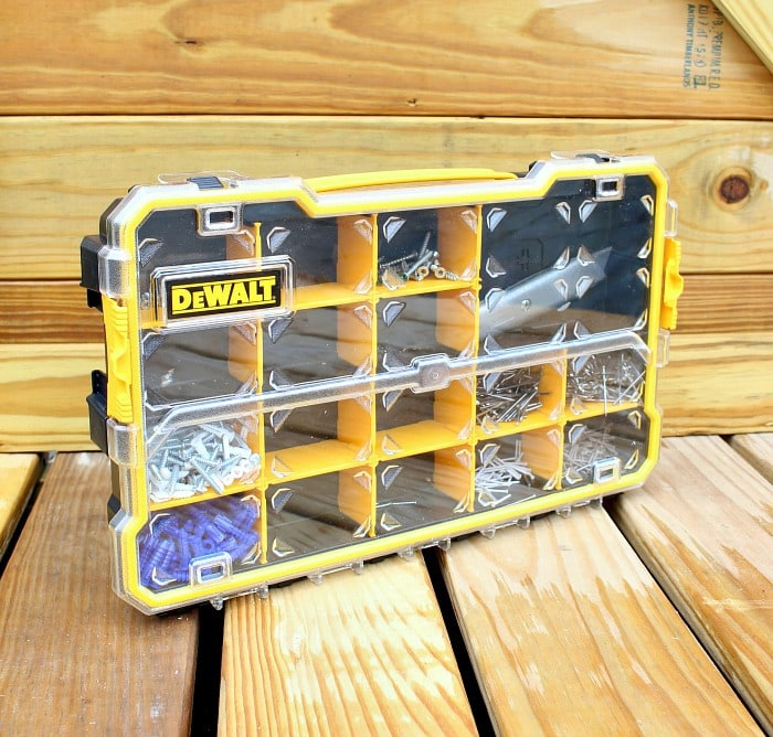 dewalt organizer filled