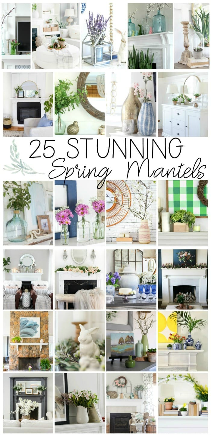 25 stunning spring mantel and spring vignettes