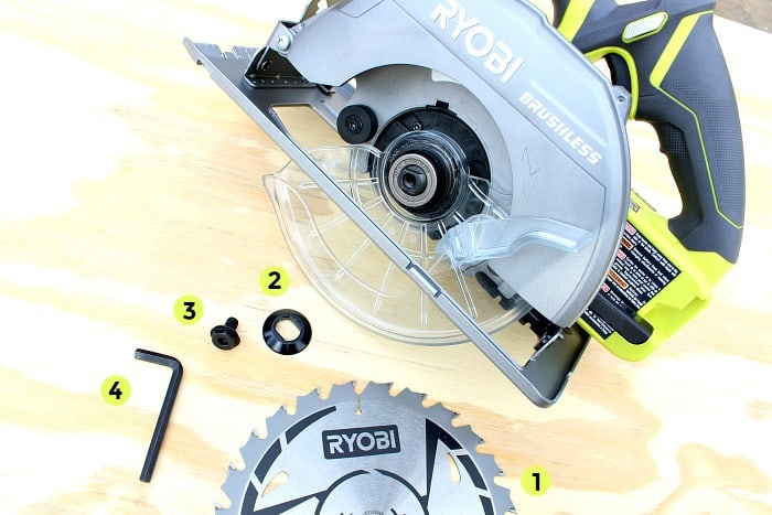 Ryobi brushless circular saw changing blade