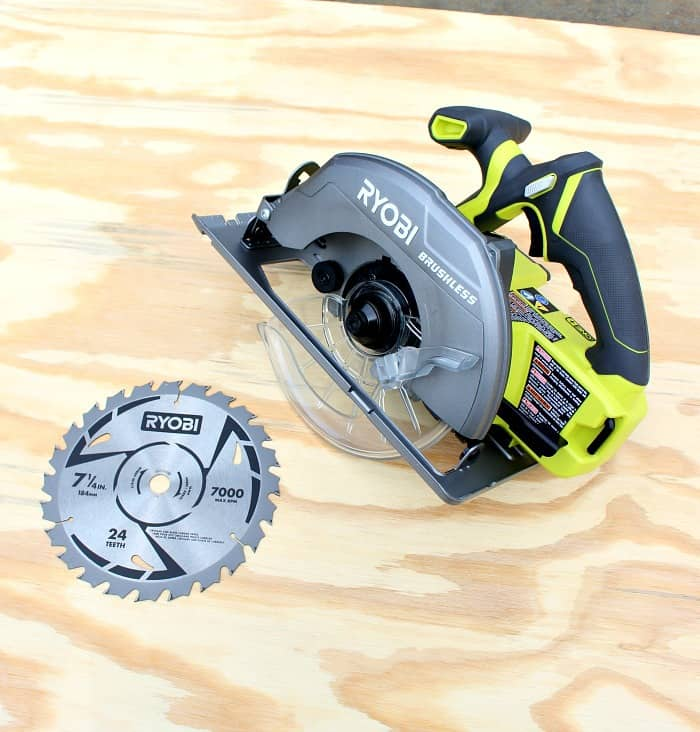 Ryobi brushless circular saw out of box