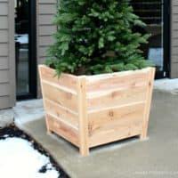 DIY Exterior Cedar Planters