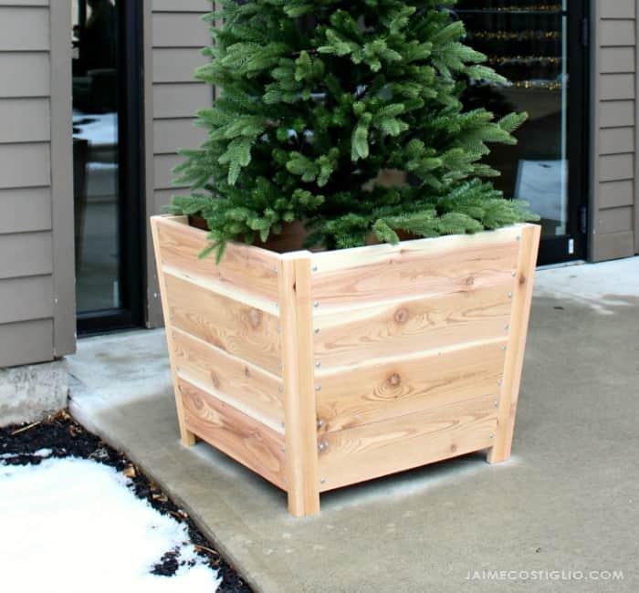 cedar exterior planters