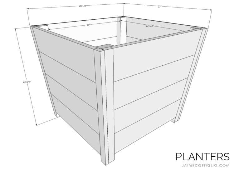 exterior planters free plans