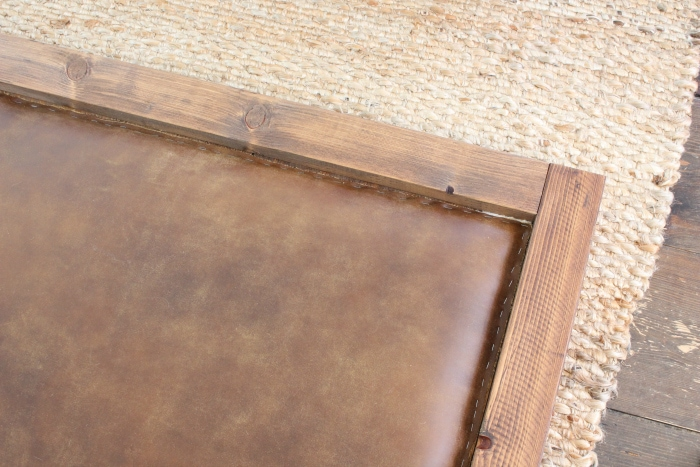 leather headboard trim excess