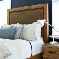 leather upholstered headboard square