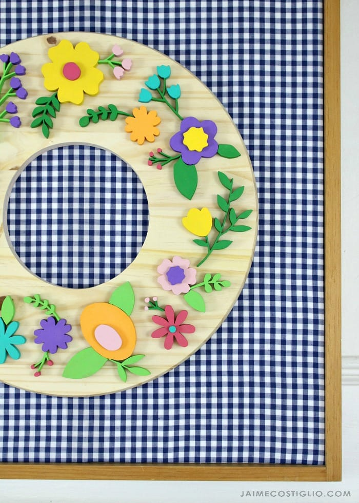 spring wreath scroll saw flowers