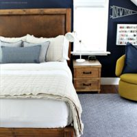 wood and leather bed free plans