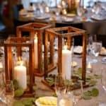 DIY Wood Lantern Centerpieces