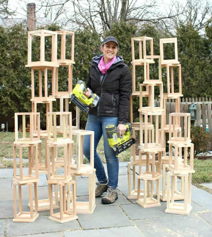 Jaime Costiglio wood lanterns Ryobi nail guns