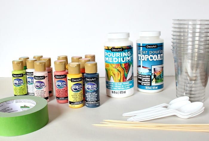 c table paint pouring supplies