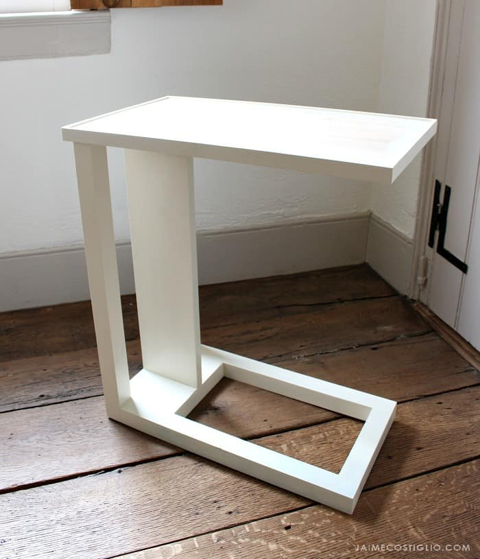 c table with lip edge
