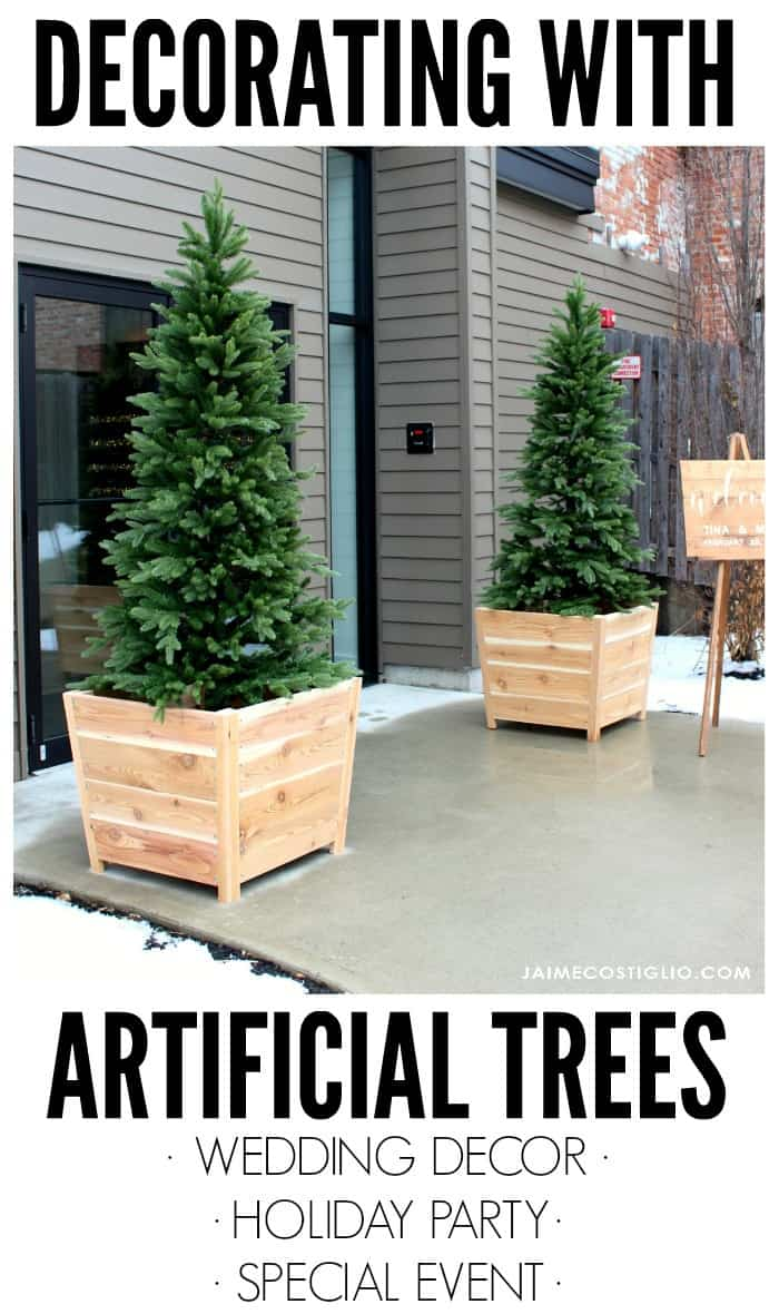 decorating with artificial trees