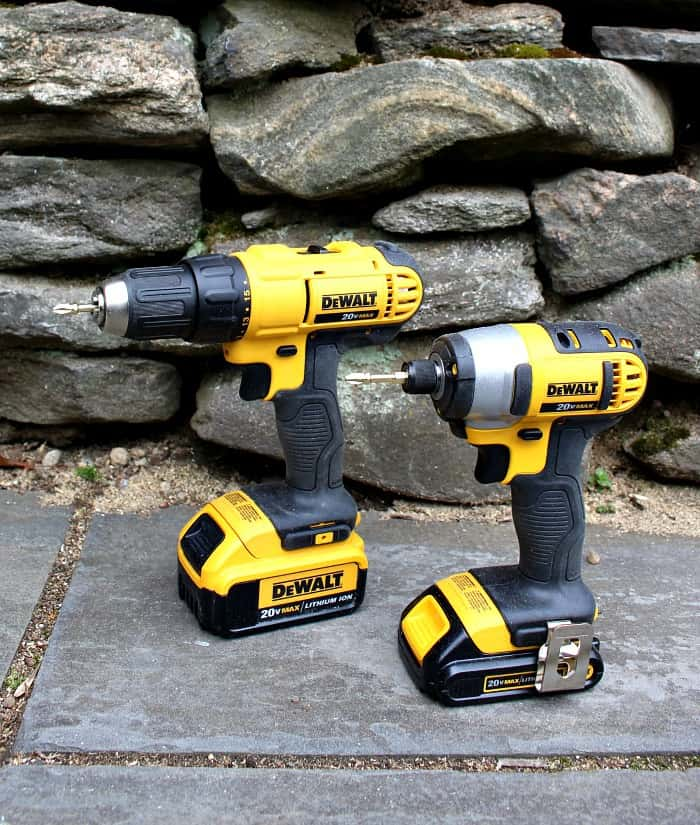 dewalt 20 volt max drill and impact driver combo kit